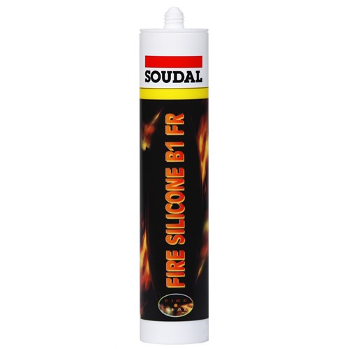 Soudal FIRE SILIKON HVIT 310ml