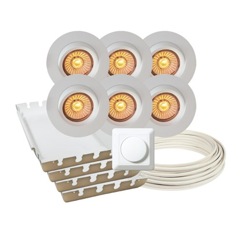 Calida LED downlightpakke 6 pk
