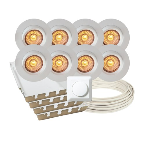 Calida LED downlightpakke 8 pk