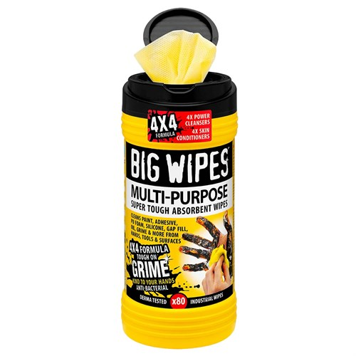 BIG WIPES ANTIBAC MULTI-PURPOSE 4X4, 80 TØRK