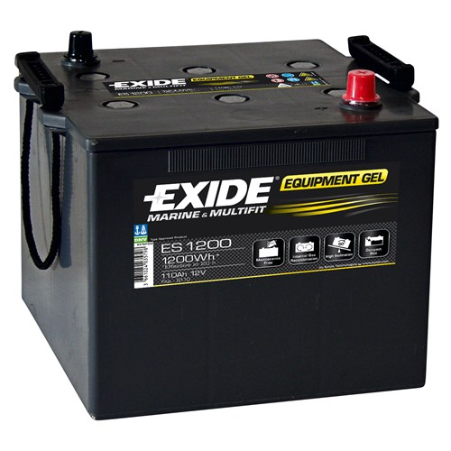 Exide Sønnak 110Ah 12 VOLT BATTERI EQUIPMENT GEL 1200Wh