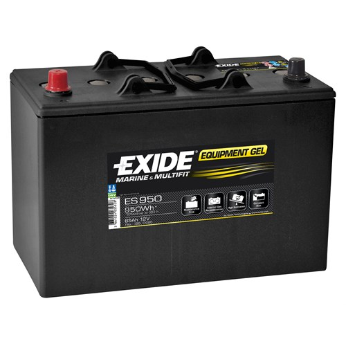 Exide Sønnak 85Ah 12 VOLT BATTERI EQUIPMENT GEL
